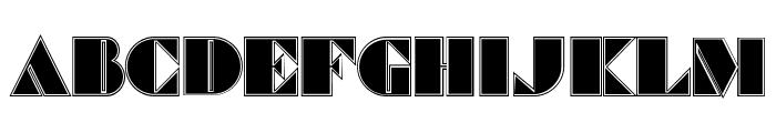 Commanders Outlined Regular Font LOWERCASE