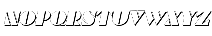 Commanders Shadow Italic Font LOWERCASE