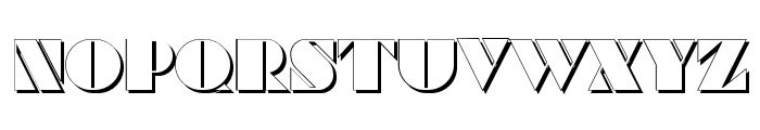 Commanders Shadow Regular Font UPPERCASE
