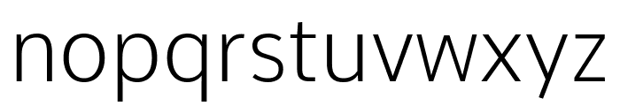 Comme ExtraLight Font LOWERCASE