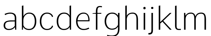 Comme Thin Font LOWERCASE