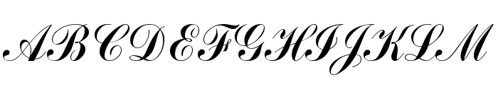 CommercialScript Regular Font UPPERCASE