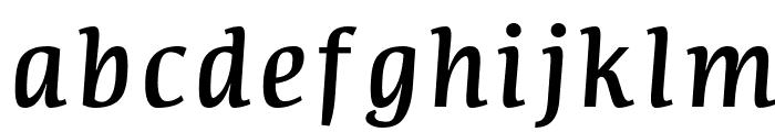 Communist Italic Font LOWERCASE