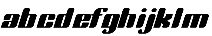 Complete Italic Font LOWERCASE