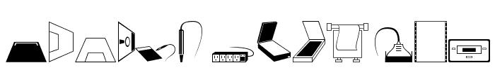 Computer Dingbats Font UPPERCASE
