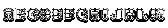 Computer Extravagant Hollow Regular Font UPPERCASE