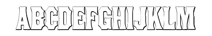 ConcaveTuscan Beveled Font UPPERCASE