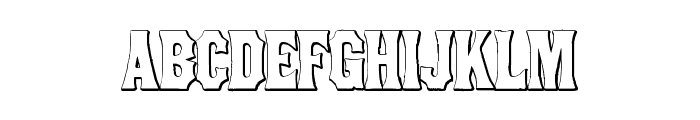 ConcaveTuscan Beveled Font LOWERCASE