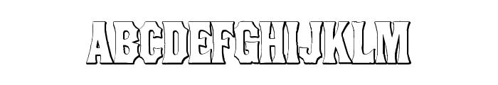 ConcaveTuscan Beveled Font LOWERCASE