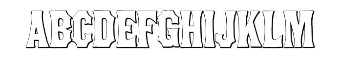 ConcaveTuscanBeveled Font UPPERCASE