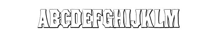 ConcaveTuscanBeveled Font LOWERCASE