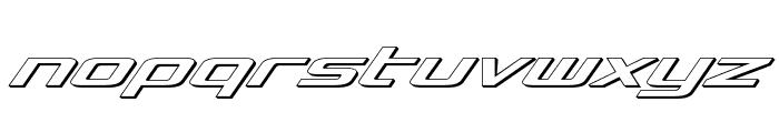 Concielian 3D Italic Font LOWERCASE