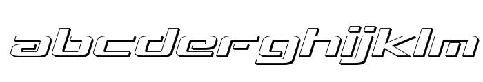 Concielian Break 3D Semi-Italic Font LOWERCASE