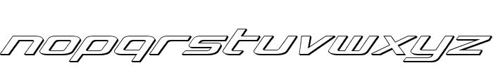 Concielian Classic 3D Font LOWERCASE