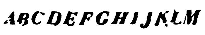 Condemdhouse Font UPPERCASE