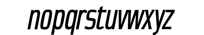 CondensansPaneurope-MediumOblique Font LOWERCASE