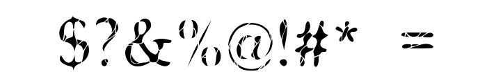 Cone Of Silence Font OTHER CHARS