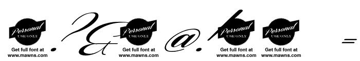 Coneria Script Slanted Demo Font OTHER CHARS