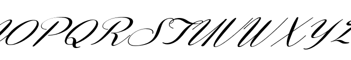 Coneria Script Slanted Demo Font UPPERCASE