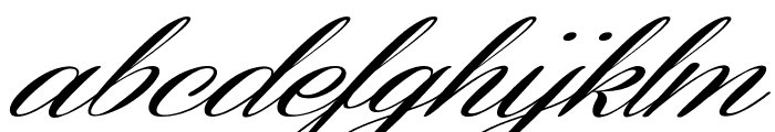 Coneria Script Slanted Demo Font LOWERCASE