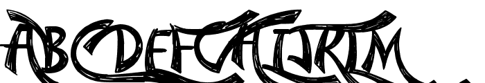 Confetti Stream Font UPPERCASE