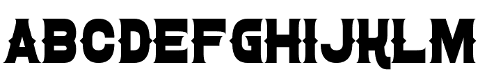 Confetti Western Font UPPERCASE