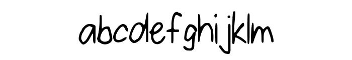 ConfettiFalling Font LOWERCASE