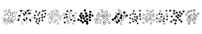 Confetti Font LOWERCASE