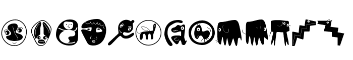 ConfusEyecons2005 Font LOWERCASE