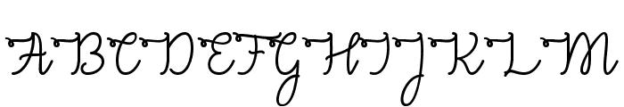 Congrats Script Font UPPERCASE