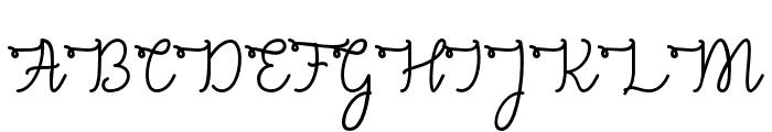 CongratsScript Font UPPERCASE
