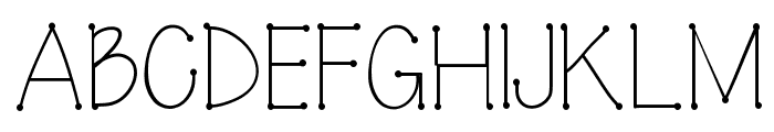 Connected Font UPPERCASE