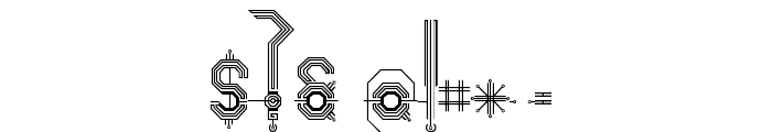 Connexion Font OTHER CHARS