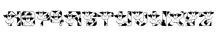 Conrads Cows Font UPPERCASE