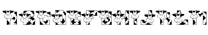 Conrads Cows Font LOWERCASE