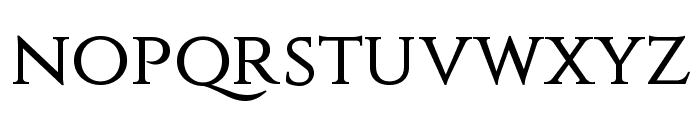Constantine Font LOWERCASE
