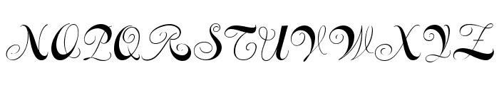 Constanze Initials Font UPPERCASE