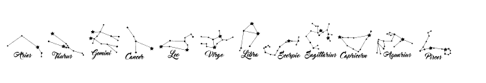 Constellations Ostia Font UPPERCASE