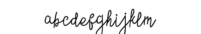 ContentoScript Font LOWERCASE