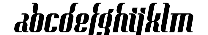 Context Clipped Heavy Font LOWERCASE