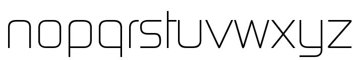 Continuum Light Font LOWERCASE