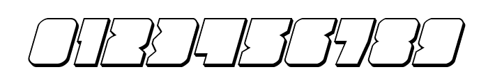 Contour of Duty 3D Italic Font OTHER CHARS