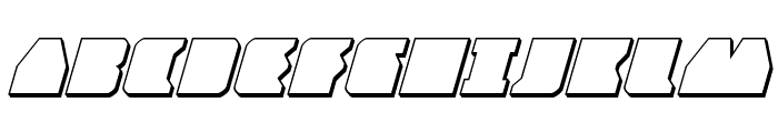 Contour of Duty 3D Italic Font UPPERCASE