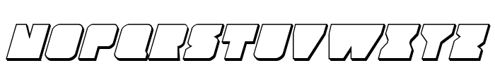 Contour of Duty 3D Italic Font LOWERCASE