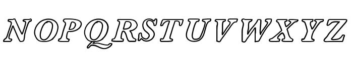 ContourDeLettres Font UPPERCASE
