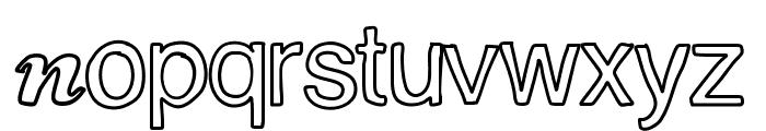 ContourDeLettres Font LOWERCASE