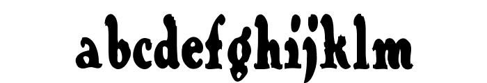 Contraband Font LOWERCASE