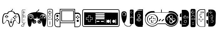 Controllers Regular Font LOWERCASE