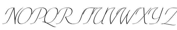Conture Script PERSONAL USE Font UPPERCASE