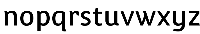 Convergence-Regular Font LOWERCASE